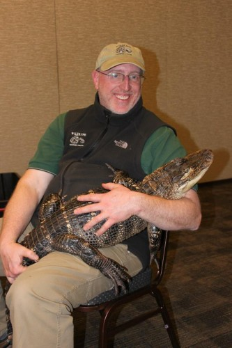 Rob with alligator.
