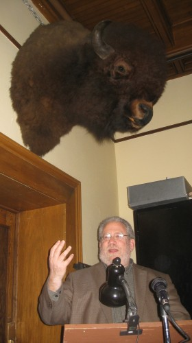 My talk at the Fairbanks Museum: I hope the bison approves.