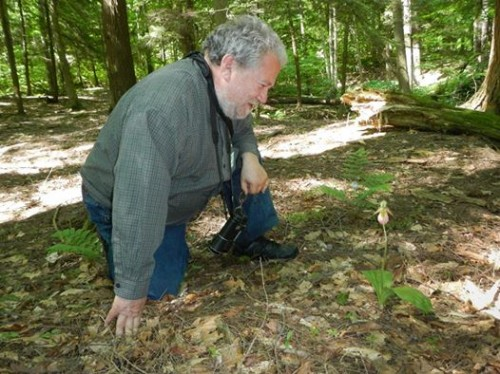 Blogger looking at ladyslippers (Twan Leenders)