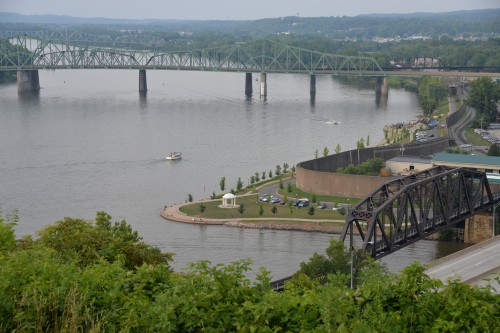 Parkersburg from Fort Boreman Historic Park.