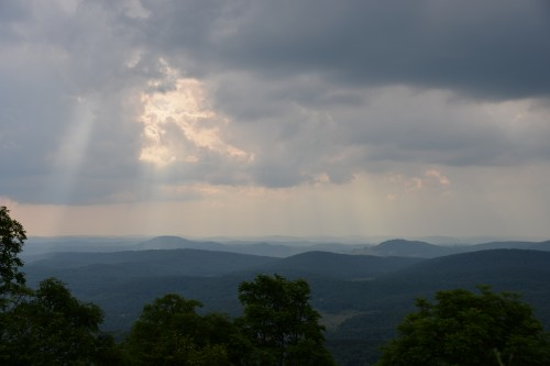 The view from Spruce Knob.