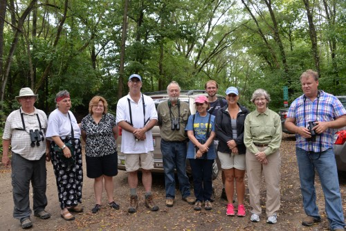 August 31 field trip participants including (from left to right) Pat Williamson, Cindy, and Bill Thompson.