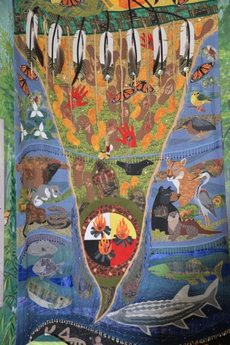 First Nations quilt at Point Pelee NP.