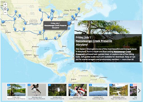 Nature Conservancy summer trail map