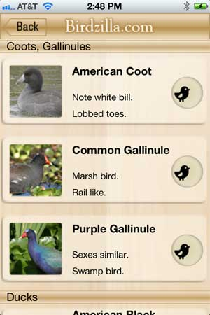 waterfowl app