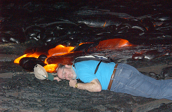 Playing in the lava